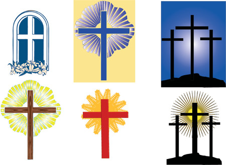 bible altar: A collection of crosses