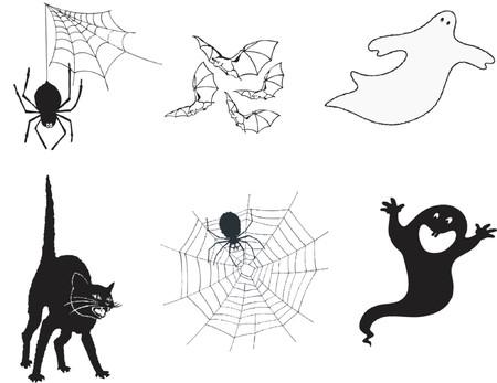 superstitious: Halloween immagini  Vettoriali