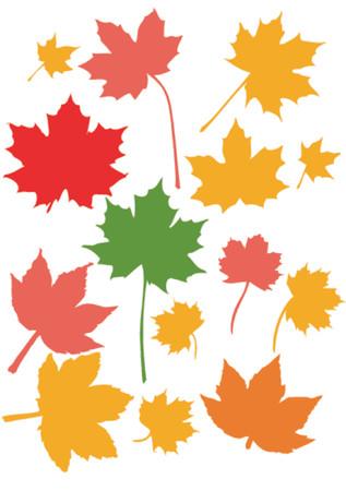 hojas de maple: Muchas hojas del arce en sus colores brillantes de fallautumn Vectores