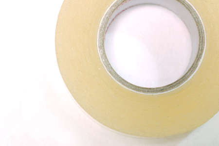 scotch tape role isolated on white background photo