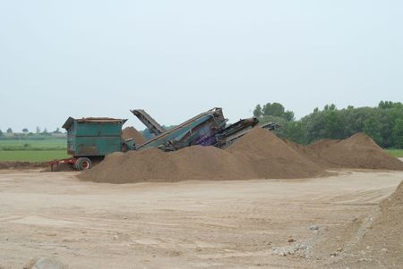 sand quarry: crusher used for grinding stone at quarry in southwestern  Ontario