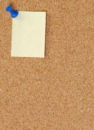 pin board: cork board with thumb tack or push pin