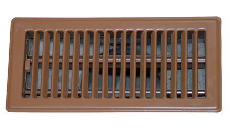 heat register: floor register or grate on white background