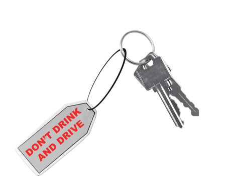 drink responsibly: car keys with fob saying dont drink and drive