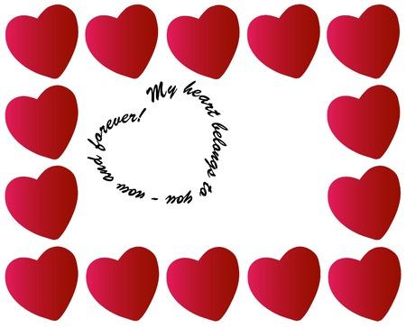 my heart belongs to you valentine - vector Vector