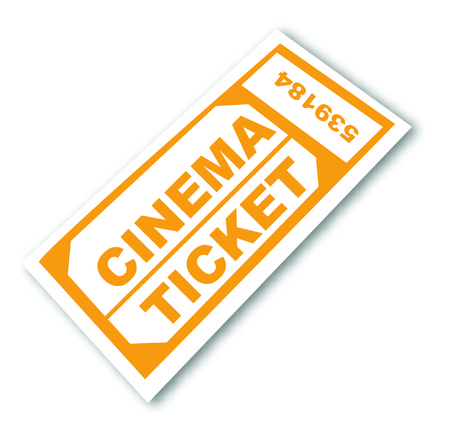 flick: numbered cinema admission ticket - vector