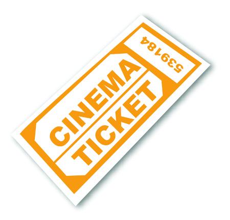 numbered cinema admission ticket - vector