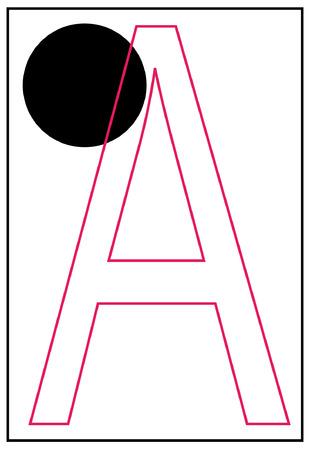 braille: alfabeto braille una carta - vector