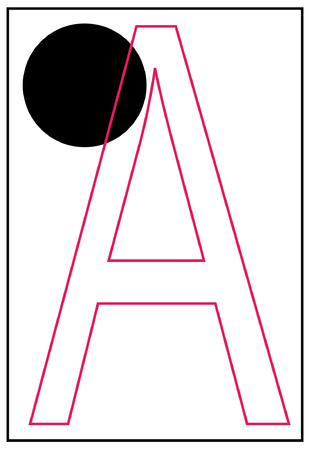 braille alphabet letter a - vector