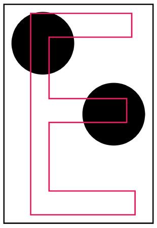 braille: braille alphabet letter e - vector