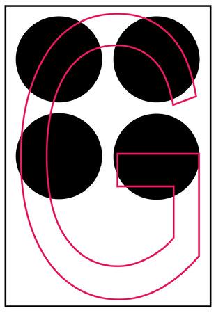 braille alphabet letter g - vector Vector