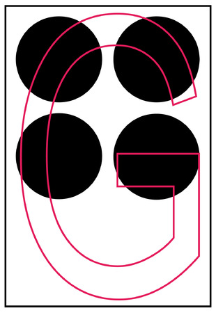 braille alphabet letter g - vector Stock Vector - 2501126