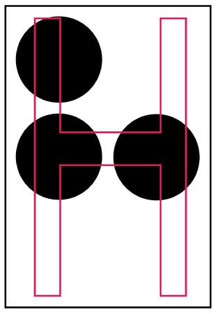 braille alphabet letter h - vector Vector