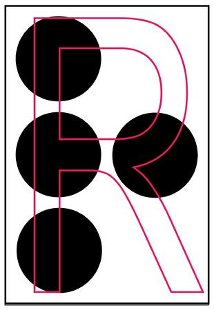 braille: alphabet letter r in braille - vector Illustration