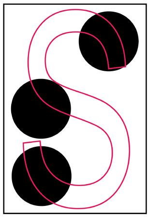 braille: alphabet letter s in braille - vector