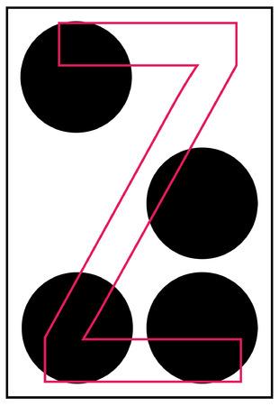 braille: alphabet letter z in braille - vector Illustration