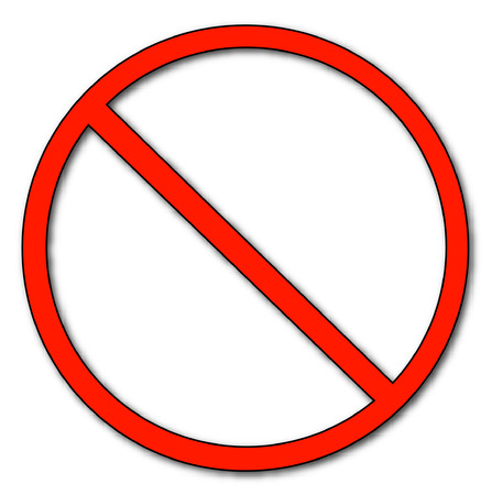 red no or not allowed symbol - vector