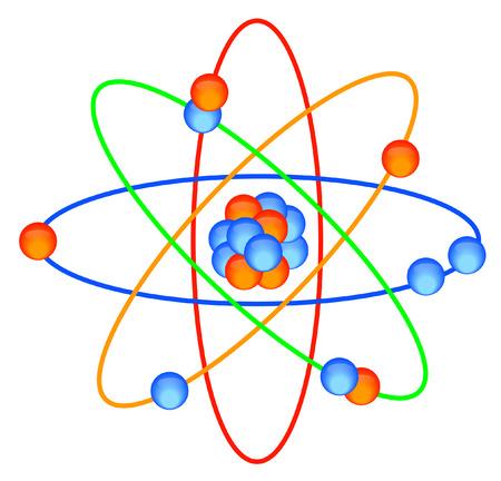 vector  molecular: colorful molecular atom grid - vector image