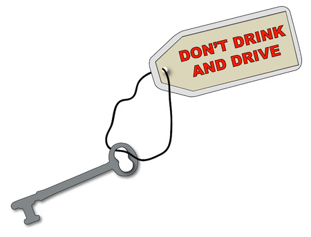 car keys with fob saying dont drink and drive - vector Vector