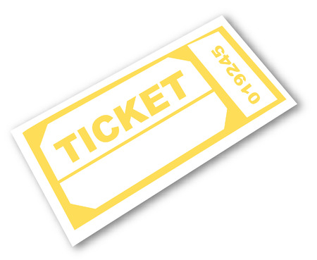 memorabilia: admission ticket isolated - room for copyspace - vector Illustration