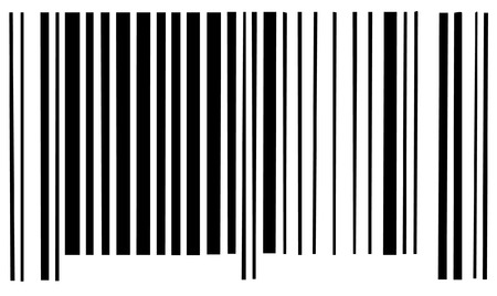 packaging industry: barcode scan code on white background - vector