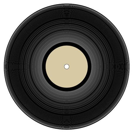 scheibe: Vintage-Vinyl - Vektor-Illustration