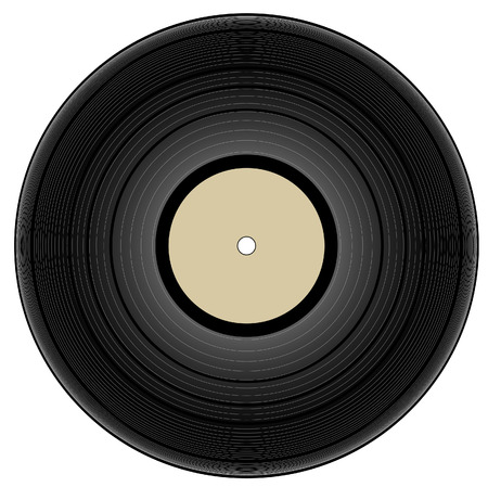 vintage vinyl record - vector illustration