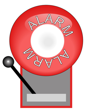 response: red alarm system used for fire- vector