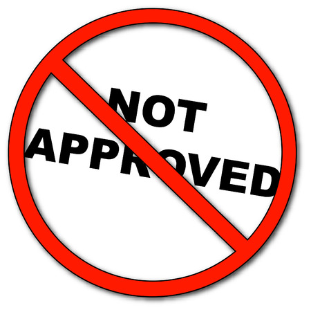 not approved symbol with words not approved - vector Vector