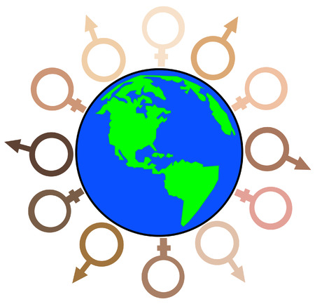 diverse group of men and women from around the globe - vector Stock Vector - 2575103