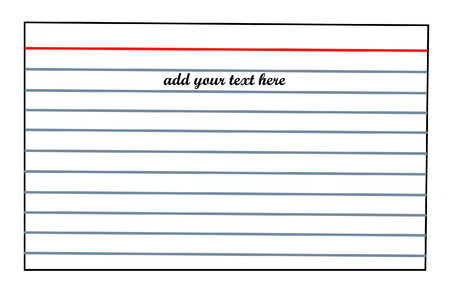 index card: lined index card with room for text - vector
