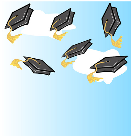 graduation hat or cap - vector illustration Illustration