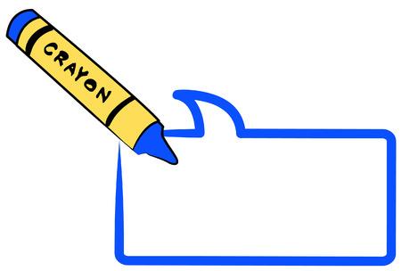 crayón para colorear un dibujo animado discurso burbuja o globo - vector  Foto de archivo - 2580528