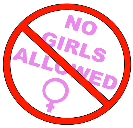 curb: no girls allowed with no symbol - vector
