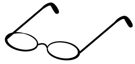 optometry: reading glasses or spectacles - vector image