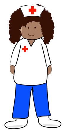 enfermera con cofia: mujeres profesional de la salud o la enfermera - vector