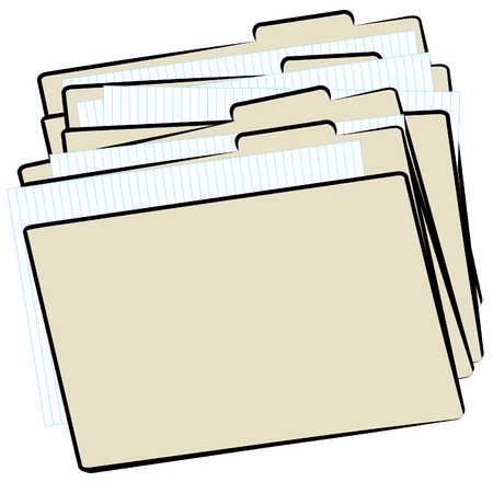 stack of file folders piled up - pending work - vector Stock Vector - 2586292