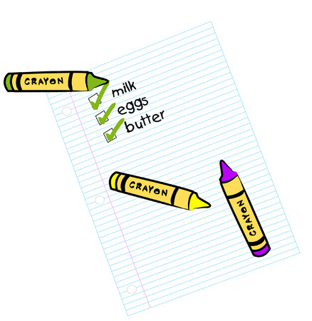 lined paper with shopping check list - vector Vector