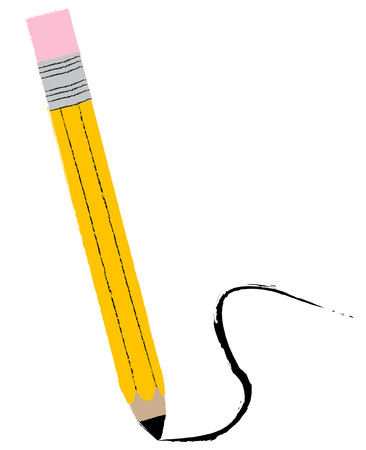 pencil with swirl lead trail - vector image Stock Vector - 2603219