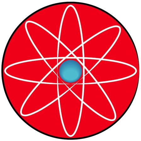 vector  molecular: molecular atom symbol or button - vector