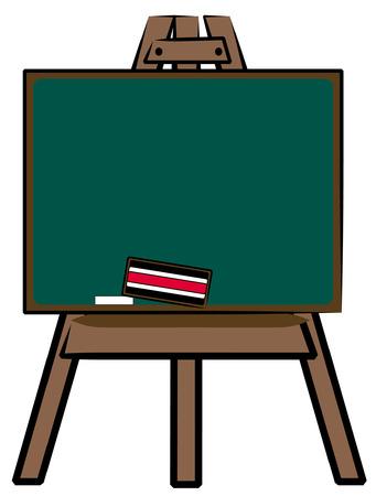 chalkboard on wooden easel - vector illustration Stock Vector - 2616297