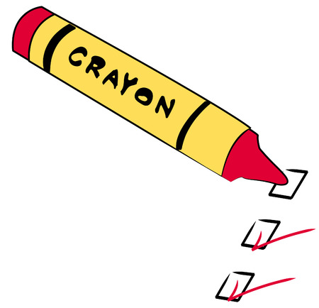 red crayon with to do boxes checked - vector Vector