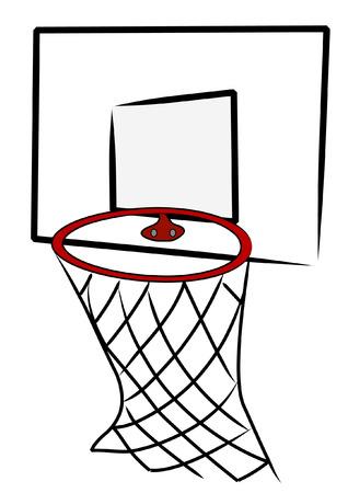 basketball net: neto de baloncesto y de vuelta a bordo - ilustraci�n vectorial  Vectores