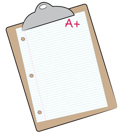 filler: con el portapapeles de papel marcados con A + - hacer que el grado - vector  Vectores
