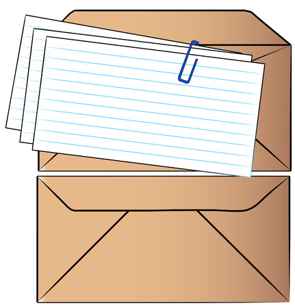 two envelopes - one sealed and one waiting to be stuffed - vector Vector