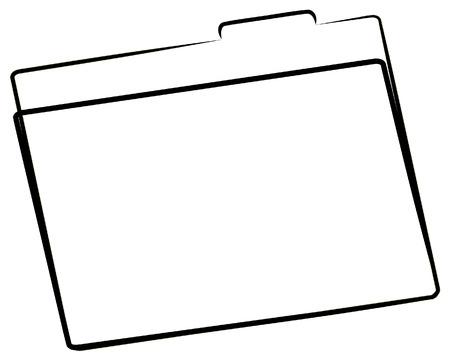 office file folder or manila folder outline - vector Stock Vector - 2704156