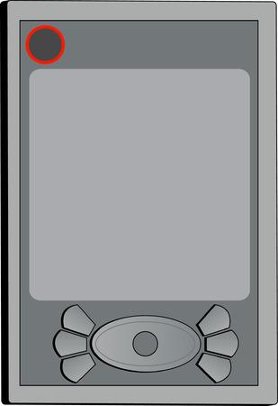 agenda electr�nica: organizador de mano o PDA - ilustraci�n vectorial