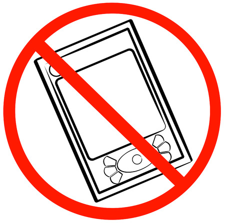 turn off your pda or pda not allowed symbol - vector Vector