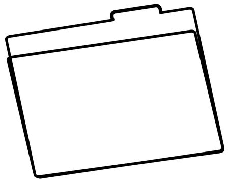manila: office file folder or manila folder outline