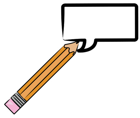 pencil drawing speech bubble for communication Vector